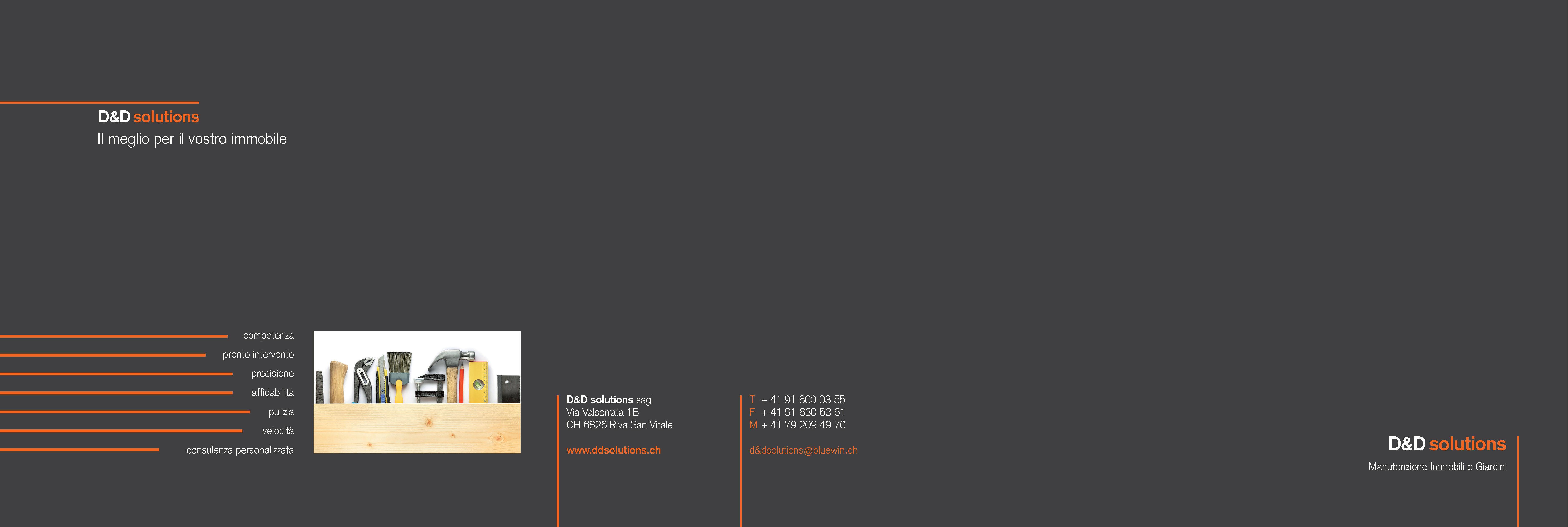 Progettazione grafica Brochure D&D Solutions