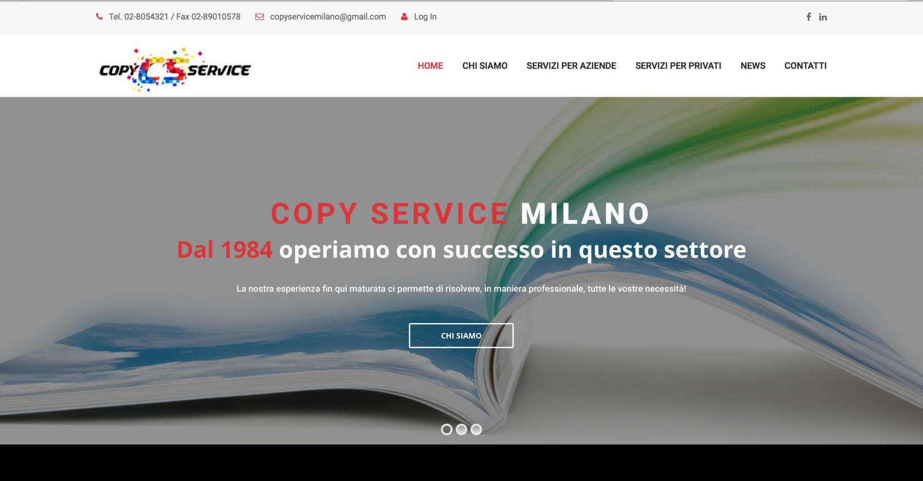 Sito web Copy Service Milano